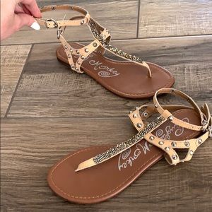 NAUGHTY MONKEY Crystal Gladiator Sandals